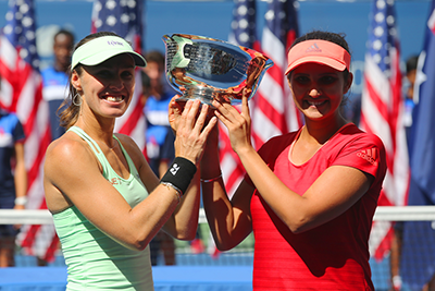 Martina Hingis and Sania Mirza at US Open 2015